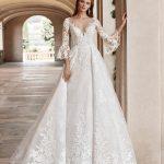 Bröllopsklänning JARIS - Rosa Clará Diamond 2019